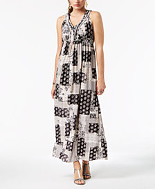 Style & Co Printed Maxi Dress, Created for Macy's