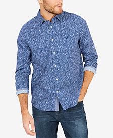 Nautica Men's Floral-Print Classic Fit Shirt