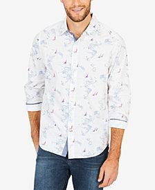 Nautica Men's Map-Print Classic Fit Shirt