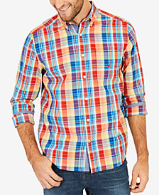 Nautica Men's Monaco Plaid Classic Fit Shirt