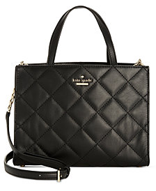 kate spade new york Small Quilted Sam Satchel