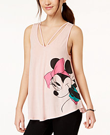 Hybrid Juniors' Disney Minnie Mouse Graphic Swing Tank Top