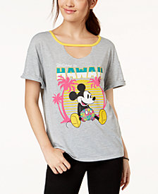 Hybrid Juniors' Disney Mickey Mouse Hawaii Graphic T-Shirt