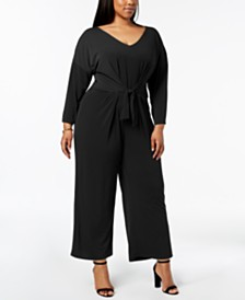 9521f7bcfd4f NY Collection Plus Size Tie-Waist Jumpsuit