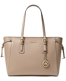 MICHAEL Michael Kors Voyager Medium Crossgrain Leather Tote