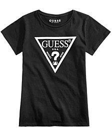 GUESS Logo Graphic-Print Cotton T-Shirt, Big Girls