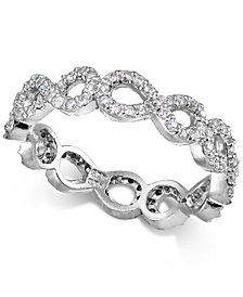 Giani Bernini Cubic Zirconia Stackable Pavé Infinity Band in Sterling Silver, Created for Macy's