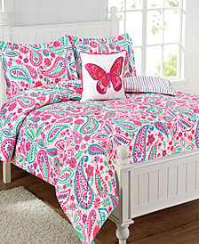 Watercolor Flutter 3-Pc. Twin Comforter Set
