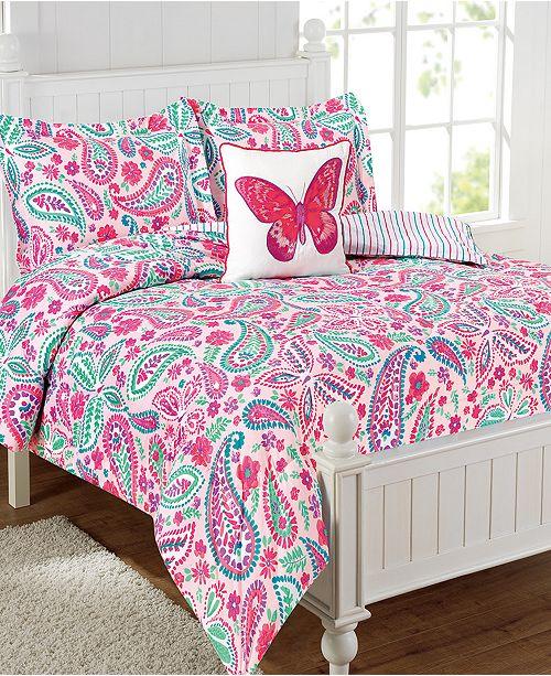 Mytex Watercolor Flutter 4-Pc. Full Comforter Set