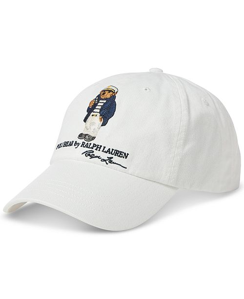 5384195c0e496 Polo Ralph Lauren Men s Dive Bear Cotton Chino Cap   Reviews - Hats ...