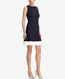 American Living Two-Tone Fit & Flare Dress