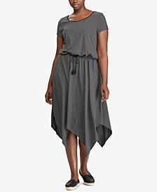Lauren Ralph Lauren Plus Size Striped Jersey Shirtdress