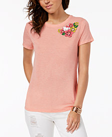 Hybrid Juniors' Hello Kitty Tropical Graphic T-Shirt