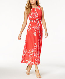 Jessica Howard Petite Belted Printed Maxi Dress