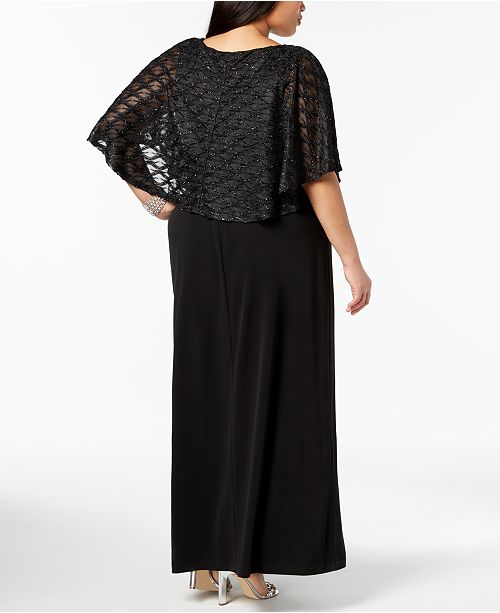 Popover Black Plus Glitter Gown Size Connected tXUwpt