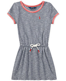 Polo Ralph Lauren Striped Cotton Jersey T-Shirt Dress, Little Girls