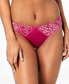 I.N.C. Smooth Lace Thong, Created for Macy's