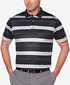 PGA TOUR Men's Stripe-Print Performance Polo