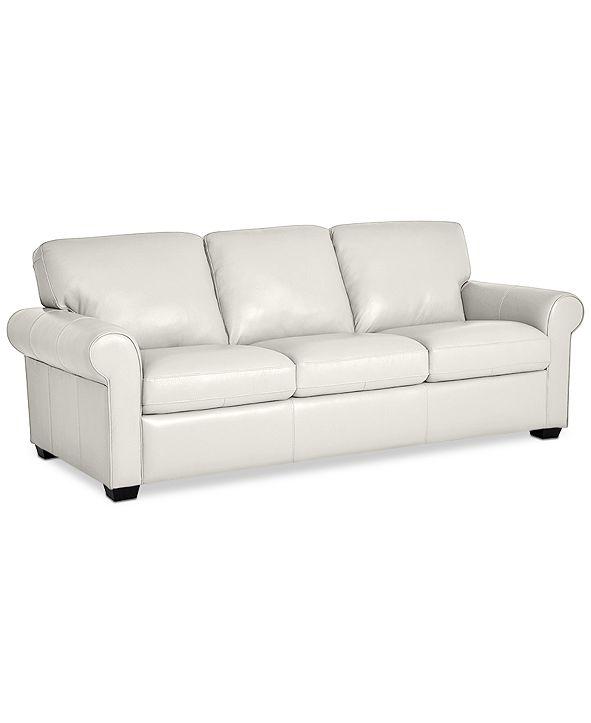 "Furniture Orid 84"" Leather Sofa, Created for Macy's"