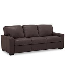 "Ennia 82"" Leather Sofa, Created for Macy's"