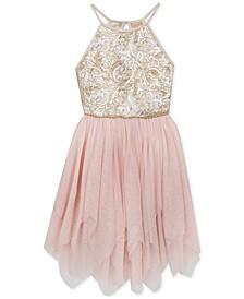 Big Girls Sequin Mesh Dress