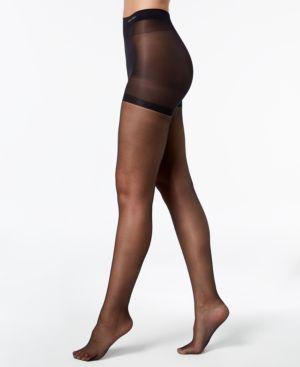 CALVIN KLEIN HOSIERY Women'S Sheer Essentials Stretch Control-Top Sheers in Black