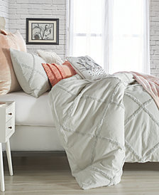 Peri Home Chenille Lattice King Duvet Cover