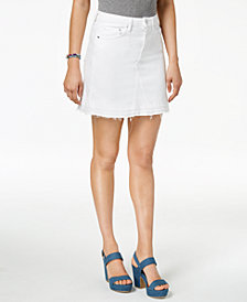 GUESS Released-Hem Denim Skirt