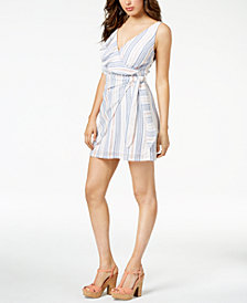 GUESS Laguna Flounce Wrap Dress