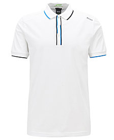 BOSS Men's Slim-Fit Striped Polo Shirt