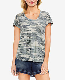 Vince Camuto Cotton Camo-Print T-Shirt