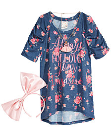 Belle Du Jour Big Girls 3-Pc. Top, Necklace & Headband Set