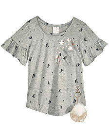 Belle Du Jour Big Girls 2-Pc. Printed T-Shirt & Keychain Set