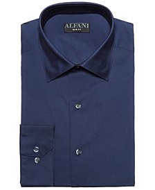 AlfaTech by Alfani Men's Slim-Fit Performance Stretch Easy-Care Solid Dress Shirt, Created for Macy's