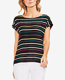 Vince Camuto Paradise Striped & Solid Top