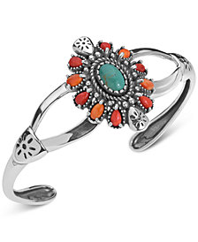 American West Multi-Stone Cuff Bracelet (3-1/2 ct. t.w.) in Sterling Silver