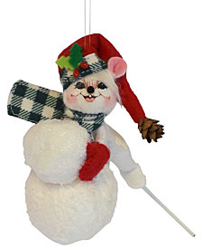 Annalee Northwoods Snowball Mouse Ornament