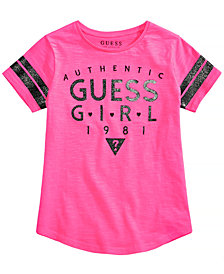 GUESS Big Girls Cotton Logo Football T-Shirt