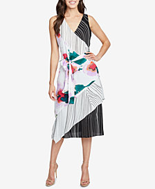 RACHEL Rachel Roy Amalfi Mixed-Print Wrap Dress, Created for Macy's