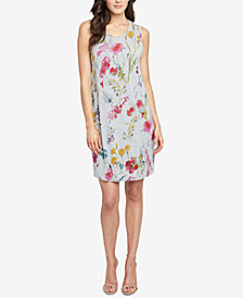 RACHEL Rachel Roy Printed Cross-Back Dress, Created for Macy's
