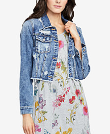 RACHEL Rachel Roy Cropped Denim Jacket, Created for Macy's