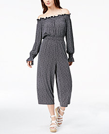 MICHAEL Michael Kors Off-The-Shoulder Jumpsuit