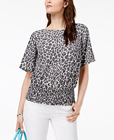 MICHAEL Michael Kors Animal-Print Top, Regular & Petite