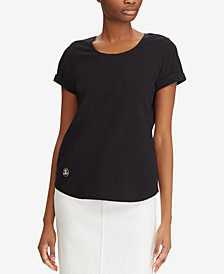 Lauren Ralph Lauren Embroidered Cotton T-Shirt