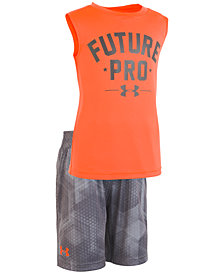 Under Armour Little Boys 2-Pc. Future-Print Tank & Shorts Set