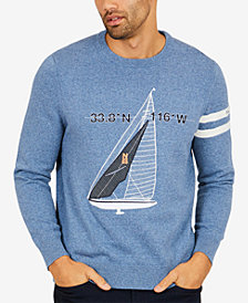 Nautica Men's Embroidered Appliqué Sailboat Sweater