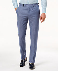 Sean John Men's Slim-Fit Stretch Light Blue Suit Pants