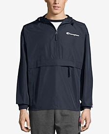 Men's Packable Half-Zip Hooded Water-Resistant Jacket