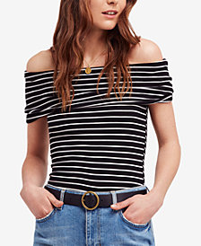 Free People Melbourne Striped Off-The-Shoulder Top