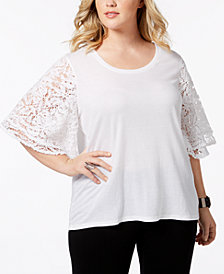 Love Scarlett Plus Size Crochet-Sleeve Top